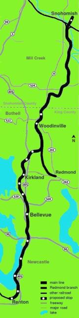 Map of Eastside Rail