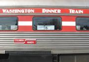 Side view of dinner train