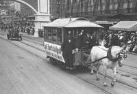 An early streetcar in San Diego