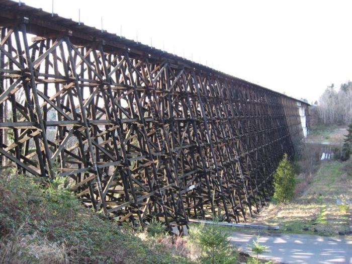 View of spectacular Wilburton trestle